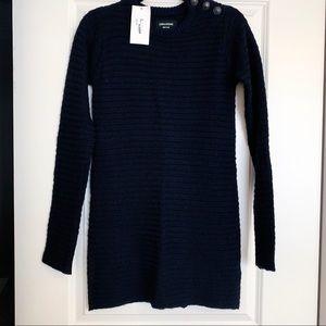 NWT Zadig & Voltaire Jada Navy Sweater Dress